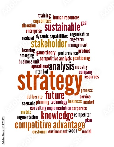 strategy word cloud - red 2