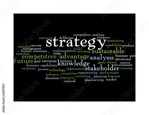 strategy word cloud - black 2