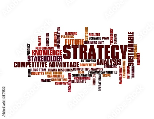 strategy word cloud - red