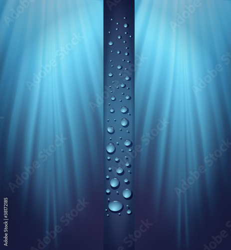 blue background drops