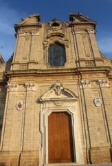 Facciata Diocesi di Oria, Puglia, Italia