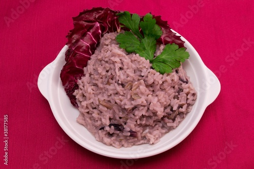Risotto al radicchio - chicory red rice