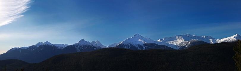 coastal mountains panorama