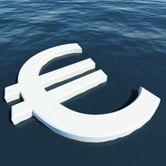 Euro Floating Showing Money Wealth Or Earnings