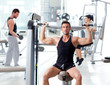 fitness sport gym group of people training