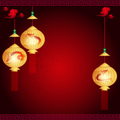 traditional of Chinese Mid Autumn Festival or Lantern Festival w