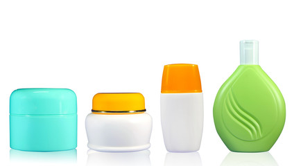 Set of cosmetics bottle