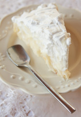 Piece of white cake