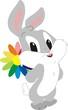 Постер, плакат: Зайчик с цветочком