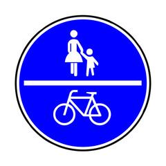 Verkehrsschild - 240 gemeinsamer Fuß- und Radweg