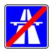 Verkehrsschild - 334 Ende der Autobahn