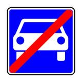 Verkehrsschild - 336 Ende der Kraftfahrstraße