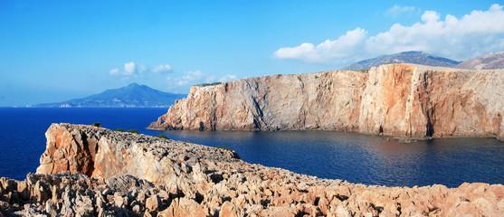 Costa di Cala Domestica in Sardegna