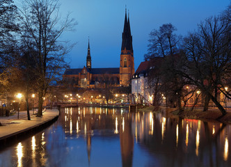 Uppsala Cathedral at evening, Sweden