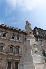 Historic Building and Statue in the city of Modena Italy