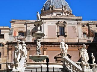 Fontana Pretoria, Palermo, dettaglio