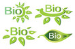 bio concept  set of logotypes and symbols