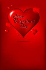 Happy Valentine's Day wish. Place for you text.