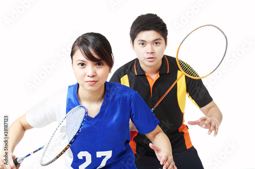 Badminton doubles