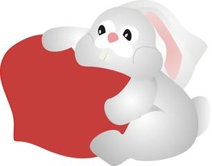 Зайчик с сердцем