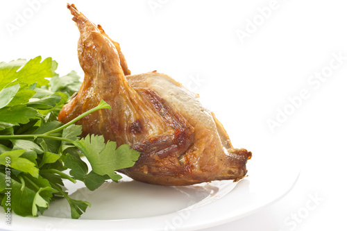 Fried female quail
