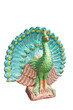 Peacock statue isolated on white background,with clipping path
