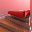 Red carpet on spiral  staircases