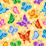 Butterfly seamless background 1