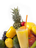 Healthy  fruits and fruit juice