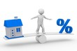 Haus-Zins-Balance 3d