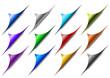 Serie di angoli pagina piegati (vettoriali)