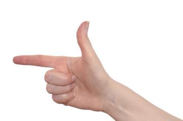 Hand mit zwei Finger