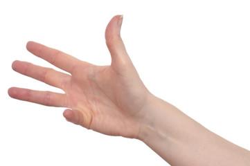 Hand mit vier Finger