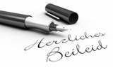 Herzliches Beileid - Stift Konzept