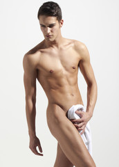 Young sexi semi naked man