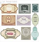 set of ornate vintage labels