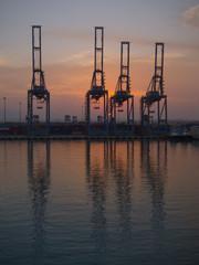Cranes on Suez Canal