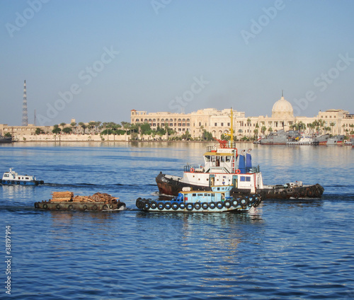 Tugboat on Suez Canal, Egypt at Port Said