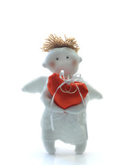 Handmade doll: Happy Valentine with wedding Rings