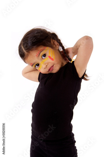enfant timide avec maquillage indien de dreana photo libre de droits 38200316 sur. Black Bedroom Furniture Sets. Home Design Ideas