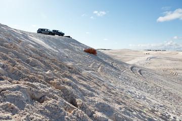 Offroud driving in dunes