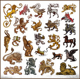 heraldic beast collection poster