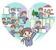 Heart-Office worker