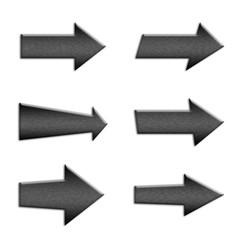 6 metal arrow symbol buttons
