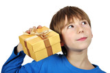 Boy with gift box