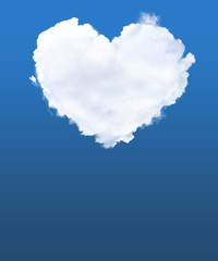 Cloud in shape of heart