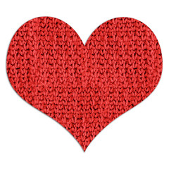 Red woolen heart