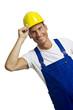 Arbeiter mit Schutzhelm