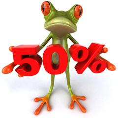 Grenouille et 50%