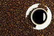 Kaffeetasse mit Kaffeebohnen